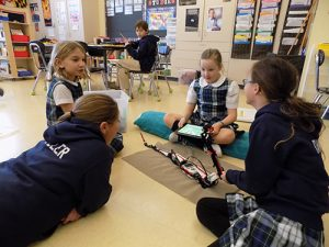 Most Blessed Sacrament Catholic School Fourth-Grade Students Work On Robotics Lesson
