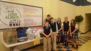Most Blessed Sacrament Student Council Holds Coat Drive In Celebration Of Catholic Schools Week