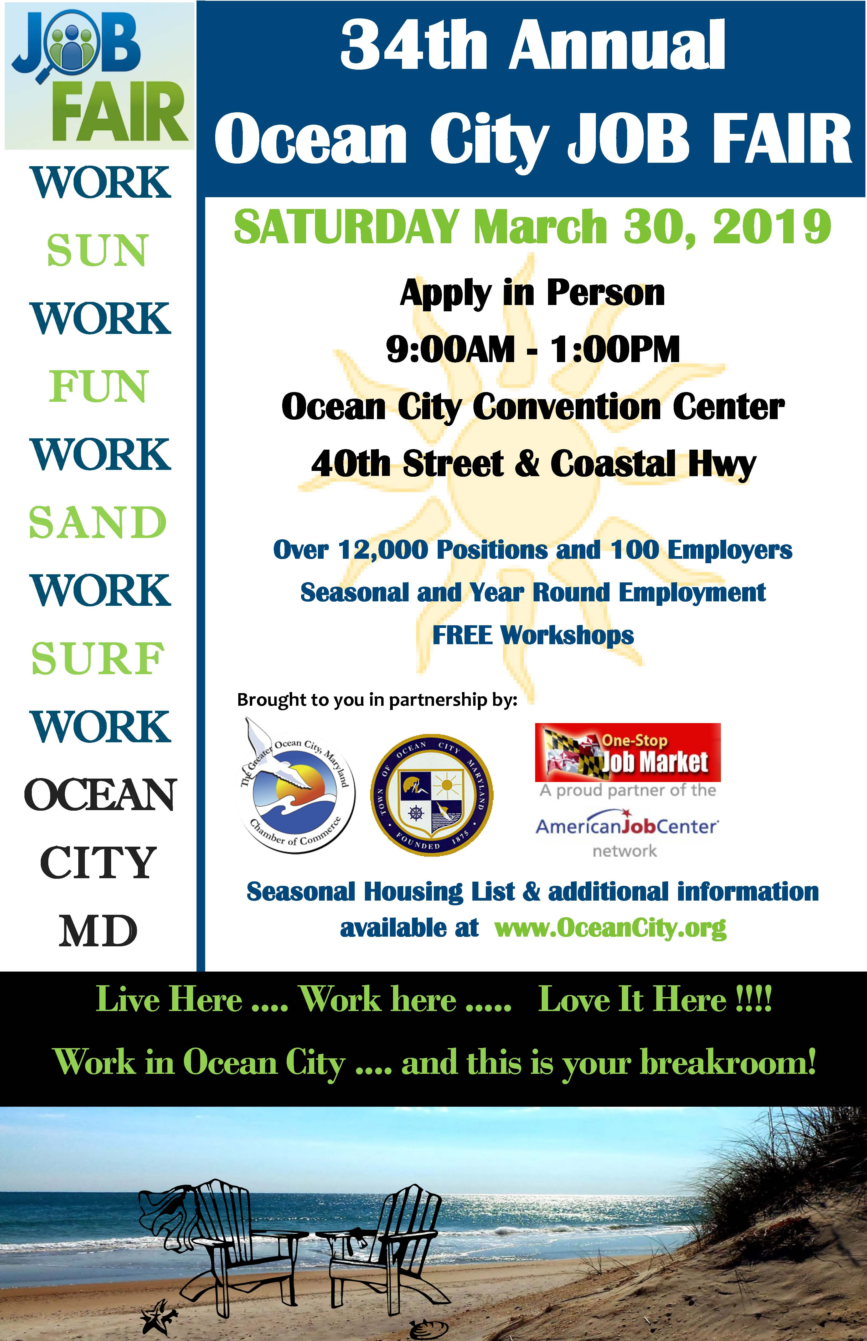 Ocean City Job Fair Set For Saturday