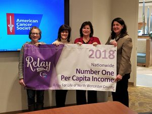 American Cancer Society's Relay For Life Of North Worcester County Honored With 2018 Nationwide Per Capita Award