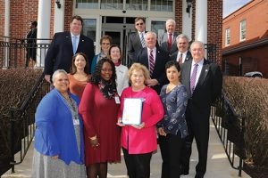 Past And Present Members Of Commission For Women Join Worcester County Commissioners In Recognizing March As Women's History Month