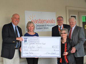 $3,000 Grant Presented To Easterseals' Camp Fairlee Through The David Larmore Memorial Fund