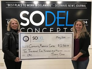 SoDel Cares Donates $2,500 To Community Resource Center