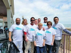 Staffers At Dunes Manor And Suites Pick Up Over 100 Pounds Of Styrofoam, Plastic And Paper As Part Of Their Earth Day Clean Up