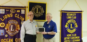 Ocean City Lions Club President Presents New Vision Screening Equipment To The Club's Vision Screening Committee