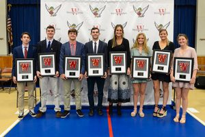 Nine Worcester Prep Seniors Earned Commemorative Plaques For Joining 12-Letter Club