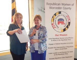 "Republican Women Of Worcester County Present Check To Worcester County Veterans Memorial Fund For ""Flags For Heros"""