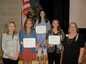 Daughters Of The American Revolution Recognize DAR Good Citizens From Three Worcester County High Schools