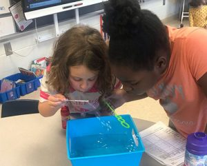Ocean City Elementary First Graders Investigate And Observe What Makes A Bubble Burst