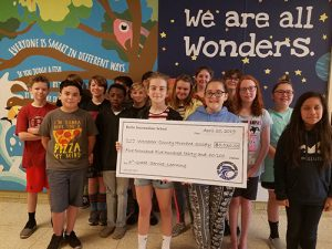 Berlin Intermediate School's Sixth Graders Donated $5,530 To Worcester County Humane Society