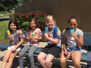 Showell Elementary Third Grade Females Rewarded With Freezer Pops For Reading 20 books In One Week
