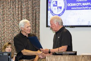 Ocean City Celebrates Brown's Service On His Retirement