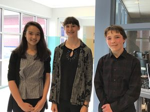 Beck, Dirickson And Greenwood From Stephen Decatur Middle School Recognized As Promising Young Writers