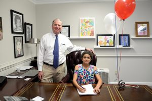 Worcester Prep Fourth Grader Mia Jaoude Acted As Head Of School