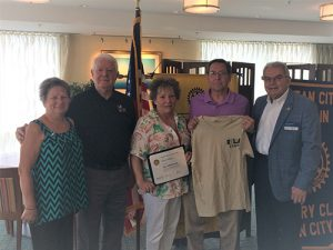 Ocean City-Berlin Rotary Club Presents A Paul Harris Fellow Recognition To Kim Heffner
