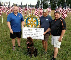 Salisbury Rotary Clubs Present $1,000 To U.S. Kennels, Inc.
