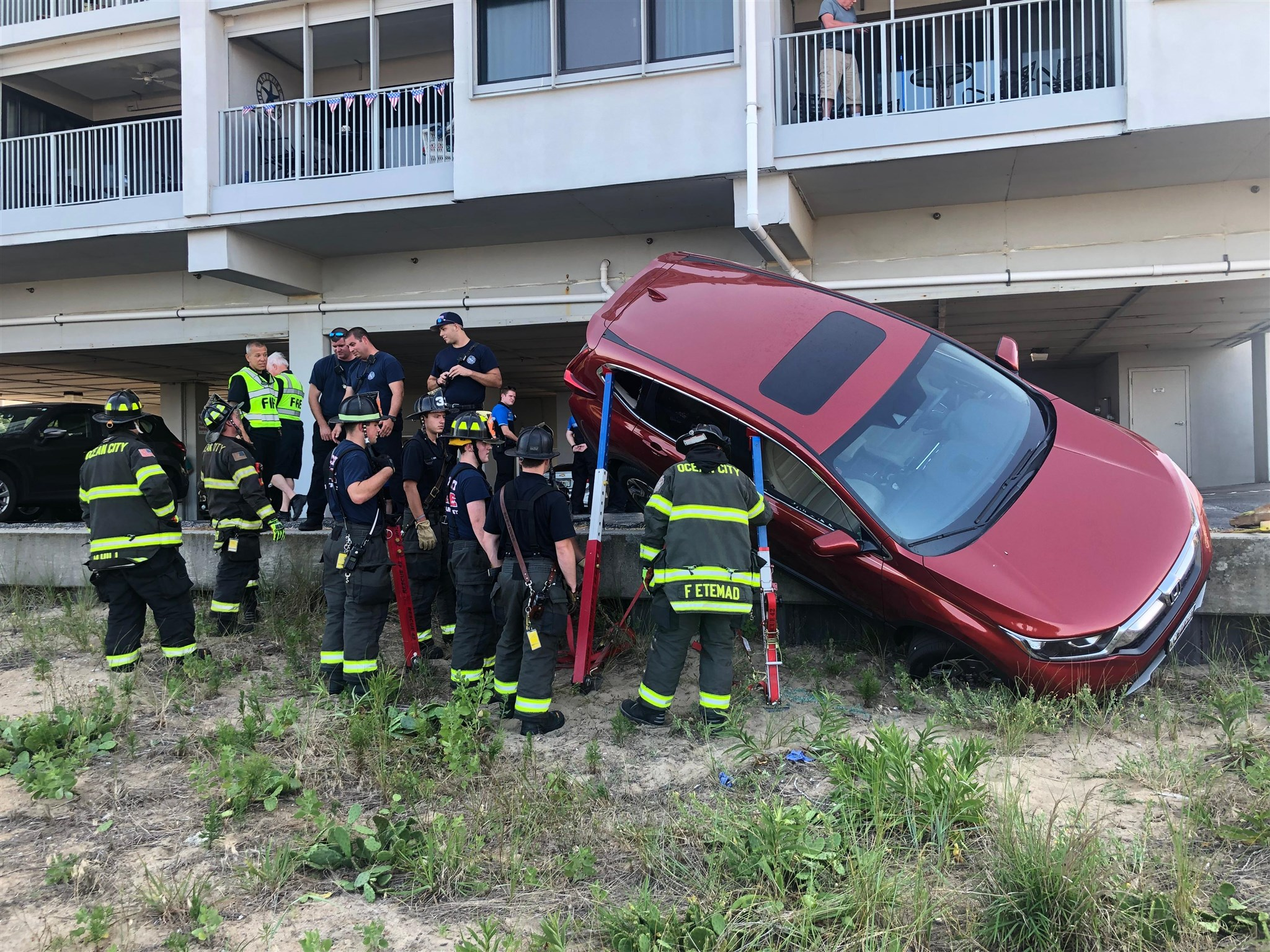 Vehicle Nearly Rolls Over On Beach
