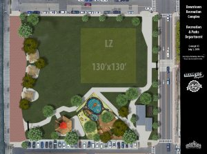 Officials Review Preliminary Downtown Park Redevelopment Plan
