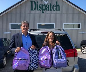 Ravens Roost 58 Donates Bookbags To Worcester Youth & Family Counseling Services