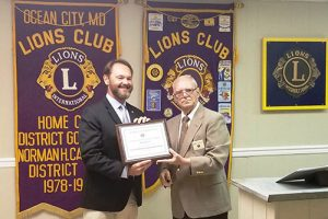 Williams Receives OC Lions Club's Pasher Bishop Award