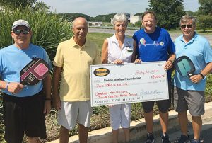 Team Cancer & Team Cardiac Pickleball Captains Donate $2,000 To Beebe