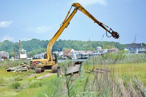 Contractor Removes OP Community's Crabbing Pier