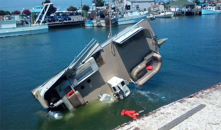 Rented Pontoon Capsizes With 15 On Board