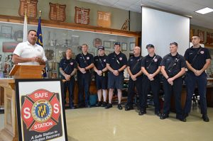 Partners In County's First Safe Station Recognized