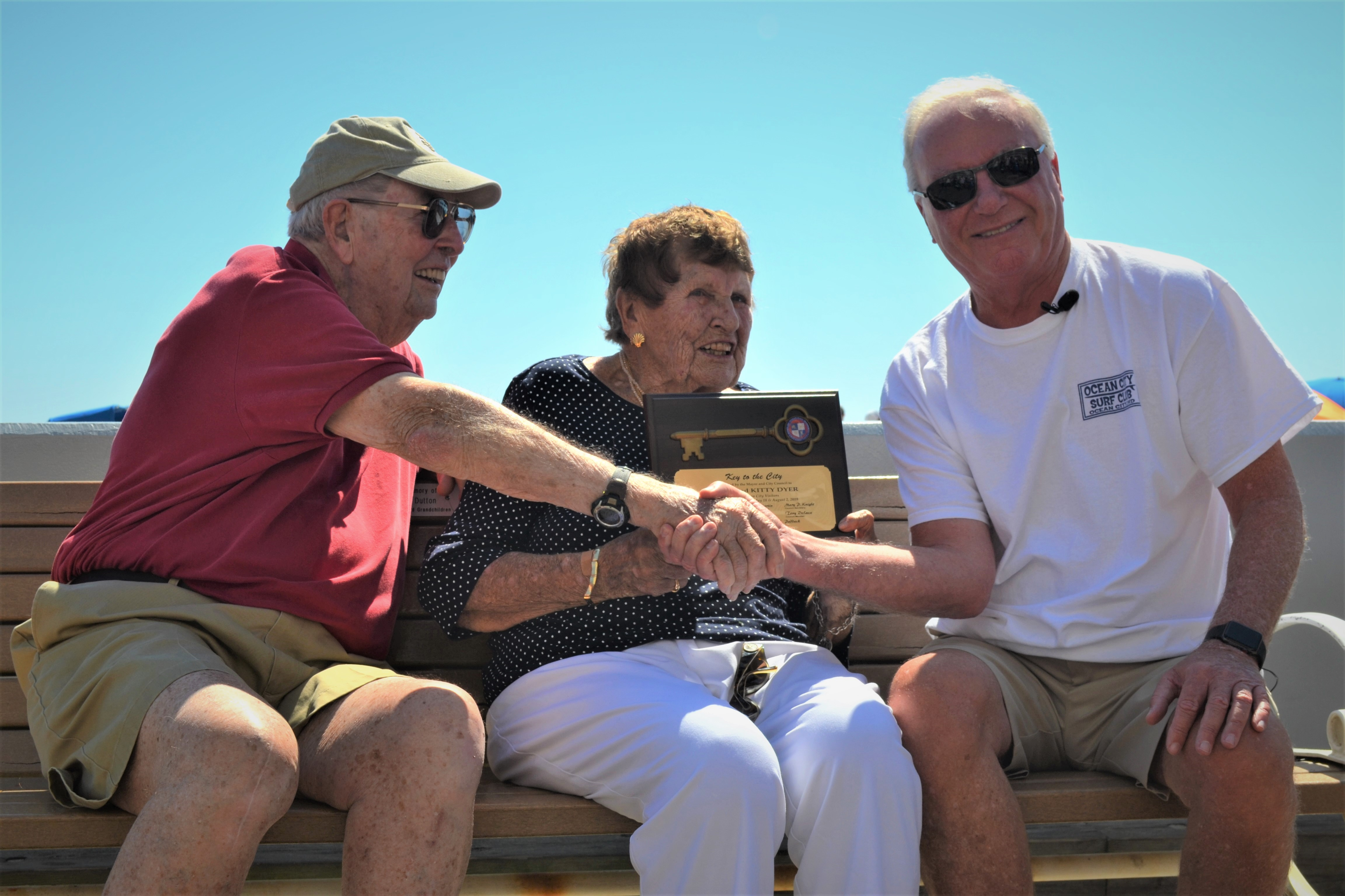 Long-Time Resort Visitors Presented Key To The City