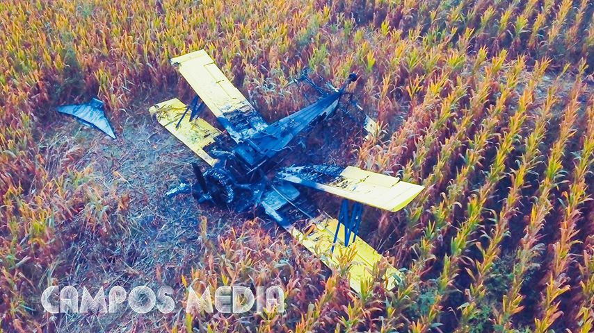 Pilot Uninjured After Crop Duster Plane Catches Fire