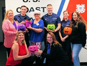 """American Legion Auxiliary Present Halloween Goodies To Coast Guard Station Ocean City For National """"Make A Difference Day"""""""