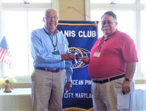 Kiwanis Club Of Greater Ocean Pines-Ocean City Hold Installation And Recognition Luncheon