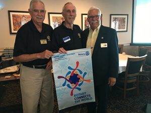 Rotary District Governor Presents Ocean City Berlin Rotary With 2019-2020 Rotary International Banner