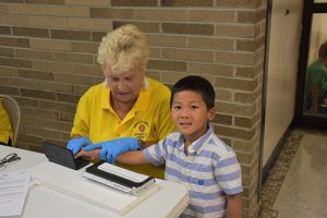 Optimist Club Fingerprints Showell Students As Part Of Youth ID Program