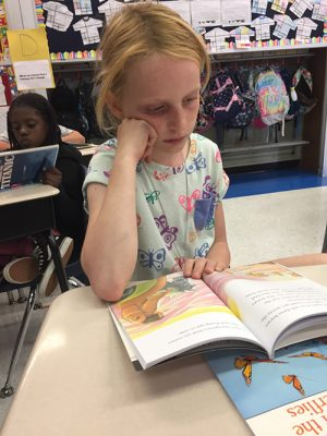 Showell Third Grader Enjoys Great Books