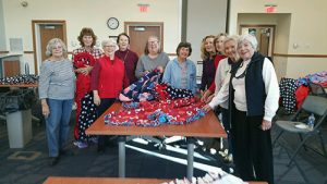 "General Levin Winder Chapter, Daughters Of The American Revolution Make Blankets For Coastal Hospice ""We Honor Veterans"" Program"