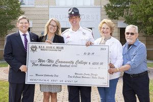 Friends & Family Of Worcester Deputy Sheriff Brian K. Heller Present  $4,300 For Scholarship In His Name