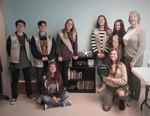 Girl Scout Troop 812 Donates CD Library To Northern Worcester County Senior Center