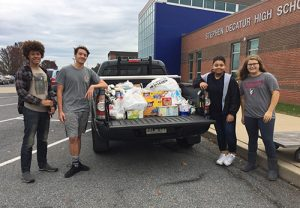 Decatur SGA Collects Nearly 1400 Pounds Of Food For Diakonia