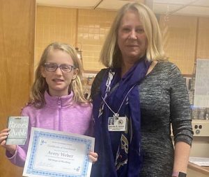 BIS Student Avery Weber Reaches 500 Steps Of Reading; Receives Certificate Of Excellence, $25 Gift Card