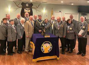 State Elks Association Members Meet With Local Elks Lodge