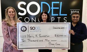 SoDel Cares  Donates $10K To Harry K. Foundation
