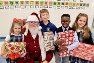 Worcester Prep Lower School Visit With Santa & Donate Gifts To Diakonia