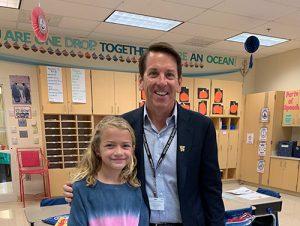 OCES Third Grader Gets Visit From Board Of Ed Member Ferrante