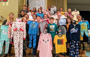 BIS Student Council Donate $650 Plus 85 Pairs Of Pajamas To Local Shelters