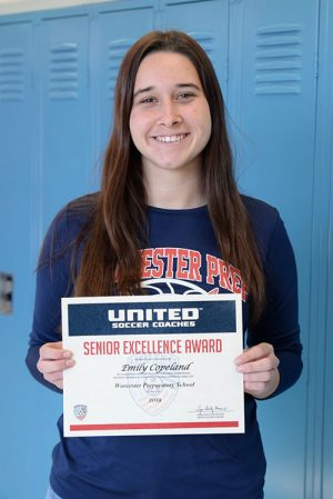 Copeland Earns Senior Excellence Award