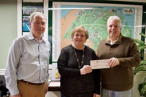 Pines Officials Present Check To Worcester County Veterans Memorial Foundation