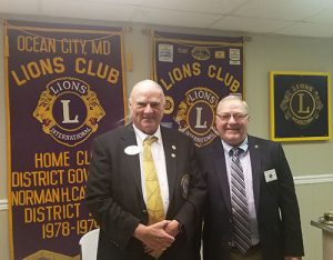 District Governor Visits OC Lions Club