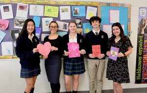 Worcester Spanish Language Students Create Spanish Valentines For Faculty