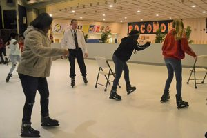 Students Try Out County's New Synthetic Ice Rink